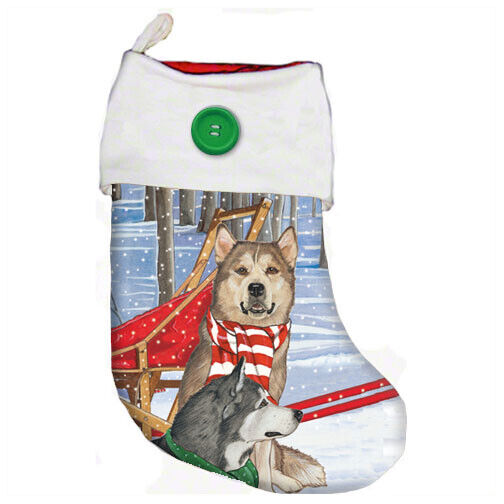 Alaskan Malamute Christmas Stocking