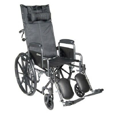 "Reclining 20"" Wheelchair, Detachable Desk Arm, Swing Away Elevating Foot Rest"