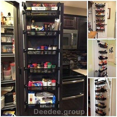 Storage Holder Rack Cabinet Kitchen Organizer Pantry Wall Door Bathroom Basket