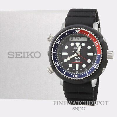Authentic Seiko Prospex Men's PADI Special Edition Solar Diver Watch SNJ027