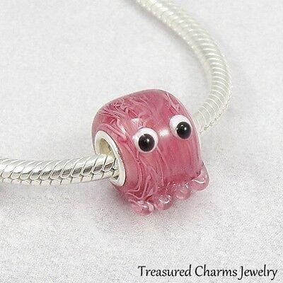 Jellyfish Ocean Lampwork Glass Large Hole Bead Charm fits European Bracelets