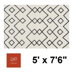 "NEW LOLOI ADLER 5' x 7'6"" AREA RUG ADLEAW-04IV005076 144497685 IVORY TEXTURED CARPET FLOORING DECOR ACCENTS MAT PAD F..."