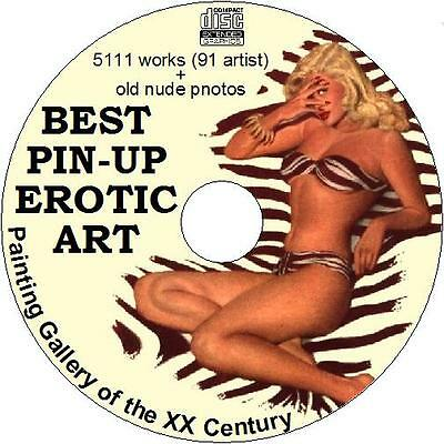 Best gift PIN-UP EROTIC ART of the XX Century (5111 works, 91 artist) on