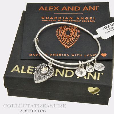 Authentic Alex And Ani Guardian Angel Rafaelian Silver Bangle