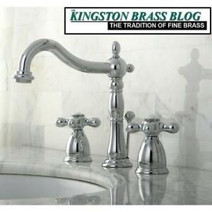 NEW KINGSTON BRASS BATHROOM FAUCET KB1971AX 225957977 WIDESPREAD LAVATORY POLISHED CHROME