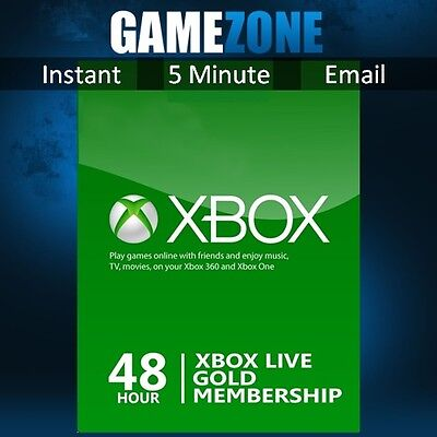 Xbox LIVE 48 Hours 2 Days Trial Gold Membership For Microsoft Xbox One Xbox 360