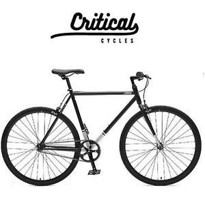 NEW* CRITICAL CYCLES MEN'S BIKE - 112423559 - 57CM HARPER SINGLE SPEED/FIXED GEAR COMMUTER BIKE MATTE BLACK LARGE