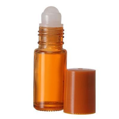 Extra Large Glass Roll On Bottle    2 Bottles Orange 30 Ml  1 Oz