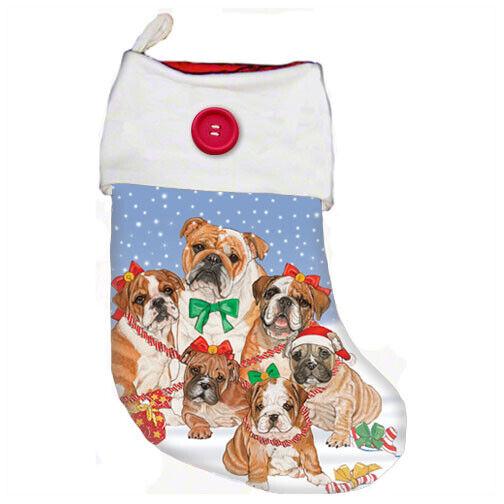 Bulldog Christmas Stocking