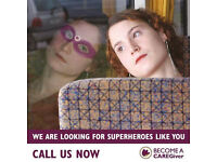 Looking for Superheroes! Recruiting CareGivers now in Glasgow South and East Renfrewshire