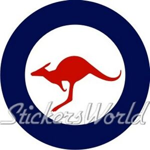 Australia-Air-Force-RAAF-Aircraft-Roundel-100mm-4-Vinyl-Sticker-Decal
