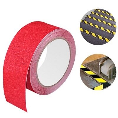 Red Anti-Skid Safety Warning Tape Factory Floor Warehouse Stairs 16.4 Feet