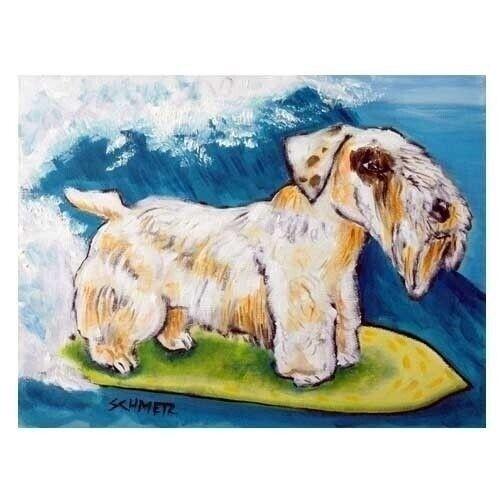 SEALYHAM Terrier SKIING picture dog art tile COASTER
