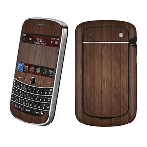 Brown Wood Vinyl Case Decal Skin To Cover BlackBerry Bold 9900 9930