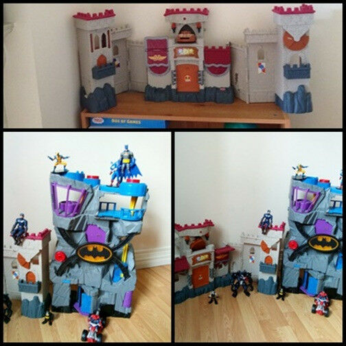 FISHER PRICE IMAGINEXT BATMAN & CASTEL & FIGURES Bundle