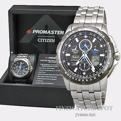 Authentic Citizen Eco-Drive Men's Skyhawk Titanium AT Watch JY8068-56E