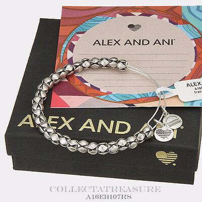 Authentic Alex And Ani Traveler Rafaelian Silver Bangle