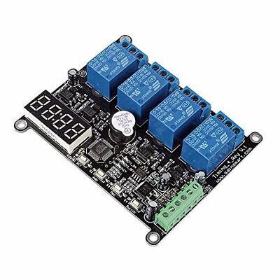 Sainsmart 4 Channel Rs485 Dc 12v Delay Timer Switch Adjustable Module Clock Time