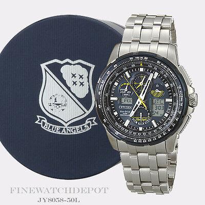 Authentic Citizen Men's Eco-Drive Blue Angels Skyhawk Perpetual Watch JY8058-50L