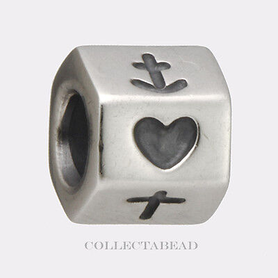 Authentic Pandora Sterling Silver Faith, Hope + Love Bead 790119