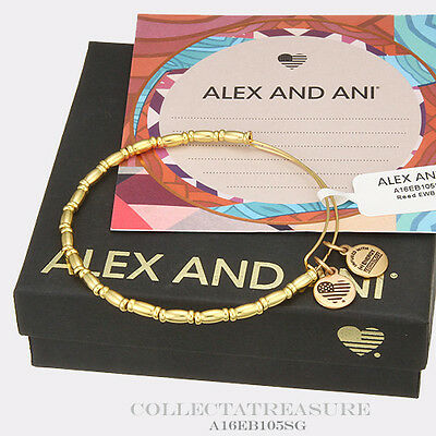 Authentic Alex And Ani Reed Shiny Gold Bangle