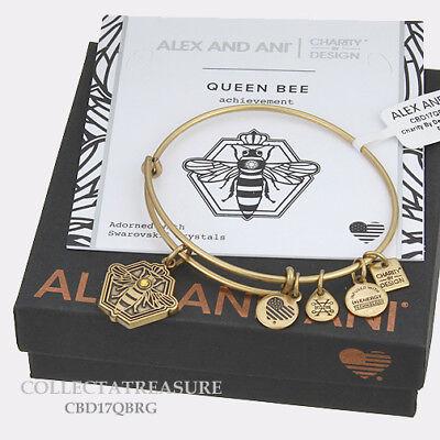 Authentic Alex And Ani Queen Bee Rafaelian Gold Charm Bangle Cbd
