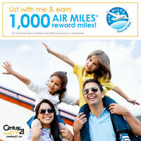 Get 1,000 Air Miles when you list your home!