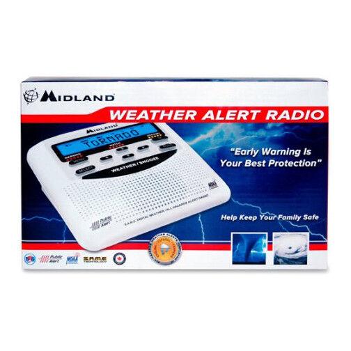 Midland WEATHER ALERT RADIO LCD DIGITAL ALARM CLOCK Certified 7 NOAA channels