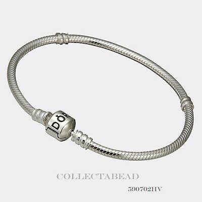 Authentic Pandora Sterling Silver Bracelet with Pandora Lock 7.5 590702HV
