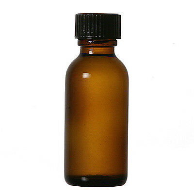 12 Pcs 1 Oz 30ml Amber Boston Round Glass Vials Wcaps