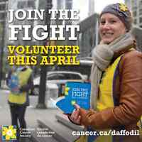 Volunteers to join the fight in April for Daffodil Month!