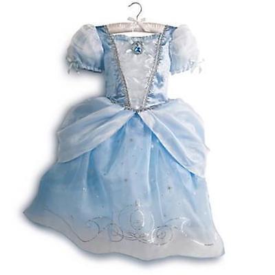 New Disney Store Cinderella Costume Girls Size 4 Dress Up Princess 2014