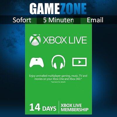 Gold 14 (Xbox Live Gold 14 Tage Mitgliedschaft - Xbox 360 - Xbox One Karte Card Code Key)