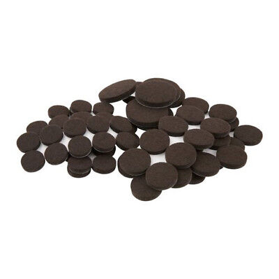 Waxman 80 Piece TABLE & CHAIR FELT PADS Brown SELF STICK HARD SURFACES Furniture for sale  Shipping to India