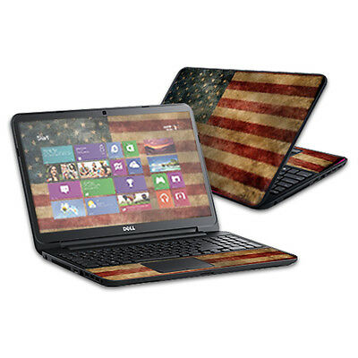 """Skin Decal Wrap for Dell Inspiron 15 i15RV Laptop 15.6"""" Vintage Flag"""