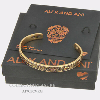 Authentic Alex And Ani Calavera Cuff Rafaelian Gold Bangle Cuff