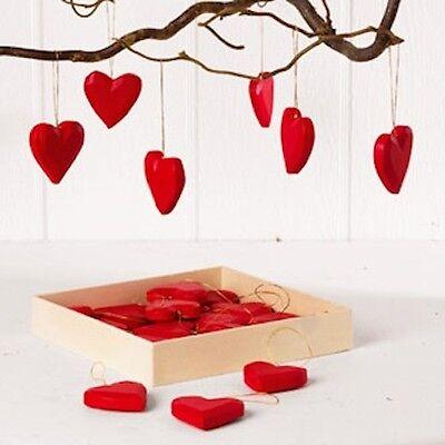 Scandinavian Swedish Danish Norwegian Christmas Heart Ornaments Box of 24 #7283