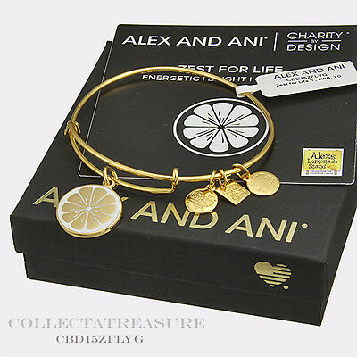 Authentic Alex And Ani Zest For Life  Ii  Cbd Yellow Gold Bangle