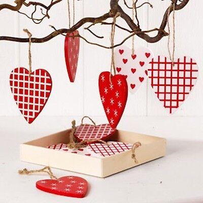 Scandinavian Swedish Danish Norwegian Christmas Heart Ornaments Box of 12 #7282