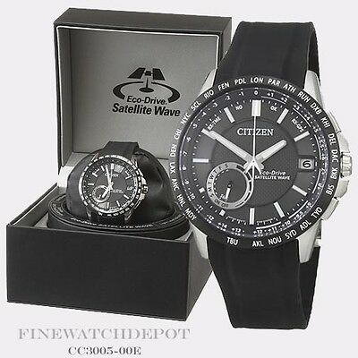 Authentic Citizen Eco-Drive Men's Satellite Wave World Watch CC3005-00E