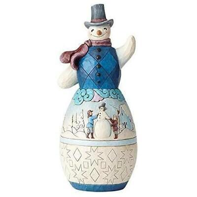 Snowman with Winter Scene Statue