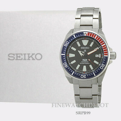 Authentic Seiko Men's PADI Prospex Automatic Stainless Steel Divers Watch SRPB99