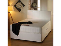 BRAND NEW DOUBLE DIVAN BED WITH 11 INCH ROYAL ORTHOPEDIC MATTRESS -GUARANTEED PRICE! SAME DAY