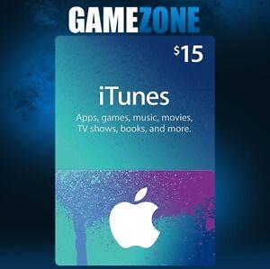 $15 USD iTunes Gift Card USA Apple iTunes Voucher Code 15 Dollar - United States