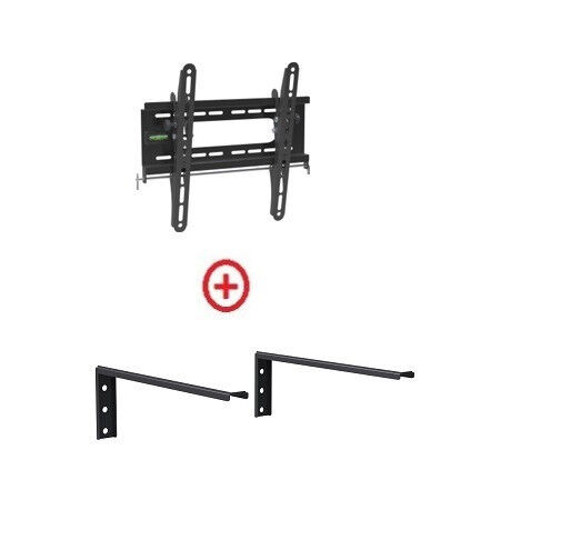 Low Profile LCD LED TV Tilt Wall Mount 18-32 with Single she