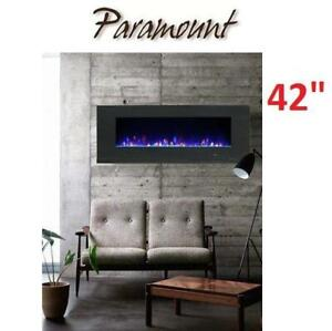 NEW PARMOUNT ELECTRIC FIREPLACE 42 EF-WM362 MO 243834468 MIRAGE WALL MOUNT