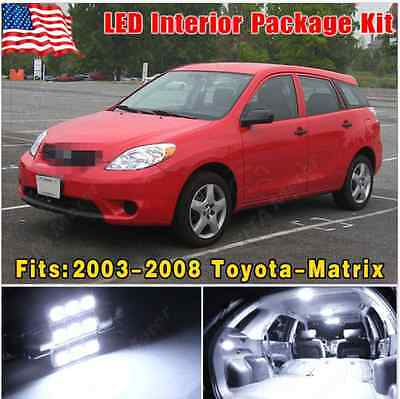 15X Pure White LED Lights Interior Package Kit For 2003-2008 Toyota Matrix