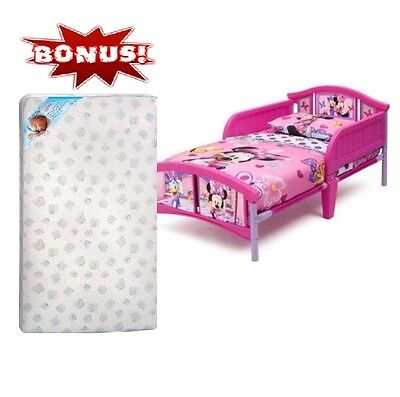 Minnie Mouse Toddler Bed Disney Appliances Bedroom Children with Largesse Mattress