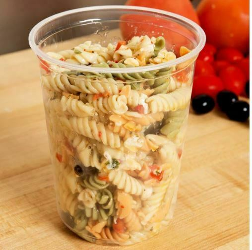 Storage Container 32oz Round Clear Plastic Deli Food/Soup Re