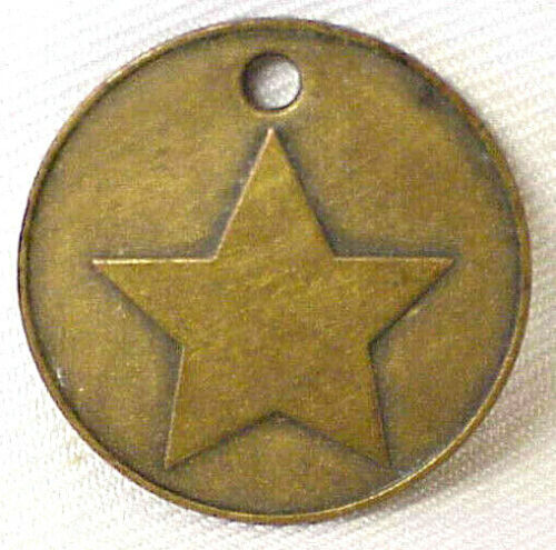 GOD, HONOR, COUNTRY VINTAGE ROUND 5 STAR METAL TOKEN COIN GOD HONOR COUNTRY
